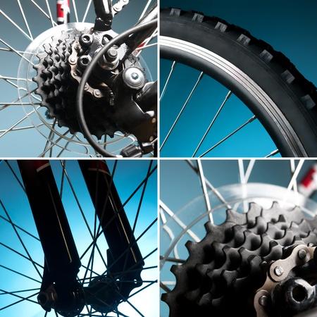 ciclismo: parte de la rueda de la bicicleta, llantas, cadena, pi��n