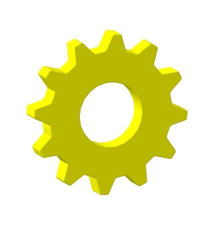 gear yellow machine wheel photo