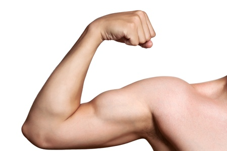 The male arm isolated on white background  photo