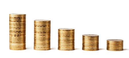 money stack isolated Stock Photo