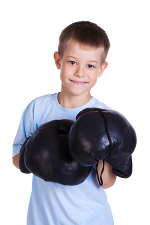 boy in a boxing gloves Stock Photo - 15895089