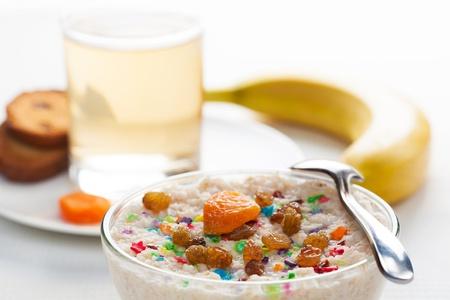 dietetic: dietetic delicious breakfast on a light background Stock Photo