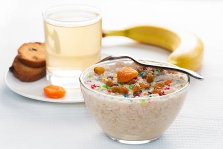 dietetic: dietetic tasty breakfast on a light background Stock Photo