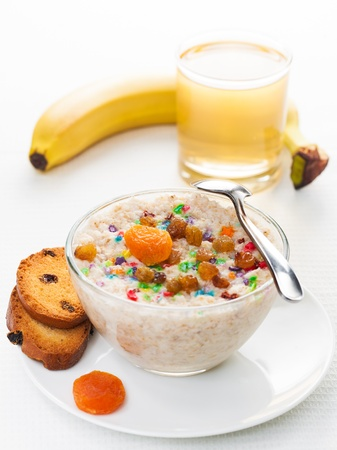 healthy delicious breakfast on a light background photo