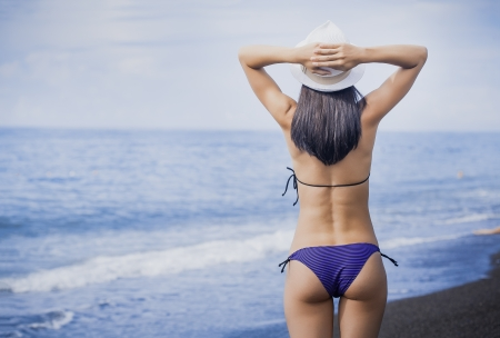 woman is enjoying with sea view Stock Photo - 22594801