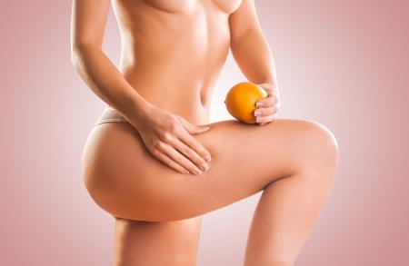 sexy women naked: naked girl with orange