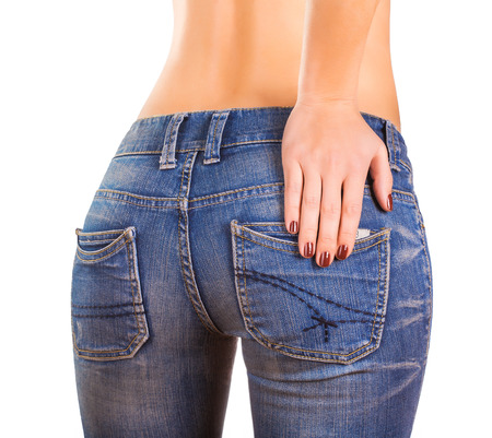 hither: sexy woman bodyin blue jean