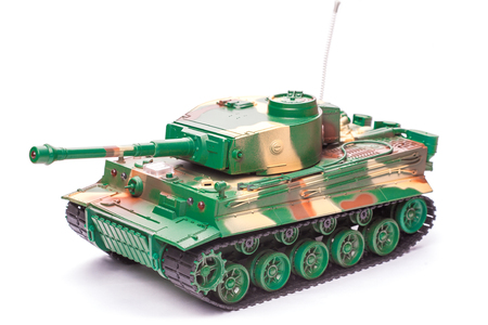 Plastic toy tank photo