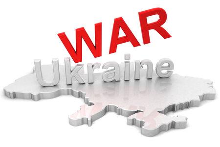 annexation: 3D Map of Ukraine