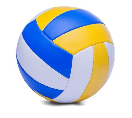 Blu scuro, giallo Volley-ball ball su sfondo bianco Archivio Fotografico - 29428050