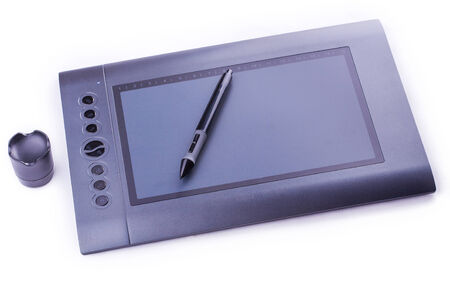 pen tablet: drawing pen tablet isolated Stock Photo