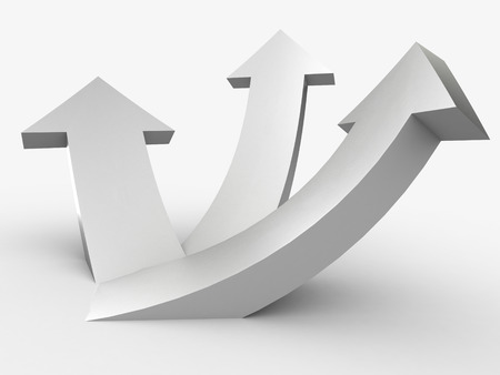 diminishing point: 3D arrows