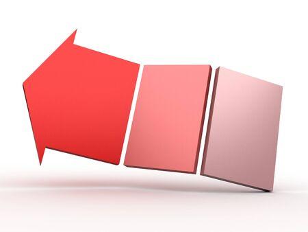 colour 3D arrows photo