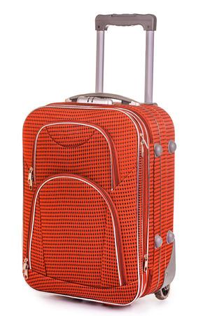 Suitcase isolated on white background photo