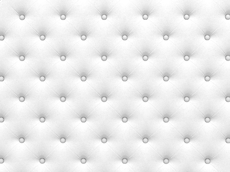 buttoned: Buttoned white Texture. Repeat pattern. render 3D Stock Photo