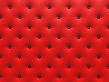 buttoned: Buttoned red Texture. Repeat pattern. render 3D Stock Photo