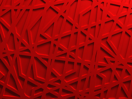 Red chaos mesh background rendered