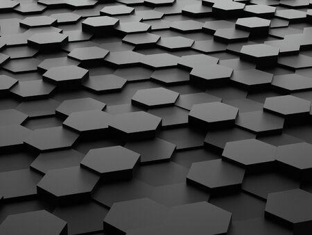 background of 3d hexagon blocks photo