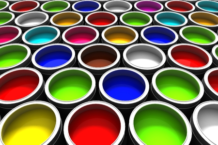 paint cans: Paint cans color palette