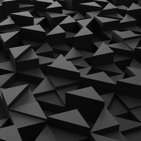 3d triangle: Abstract background of black 3d triangle blocks
