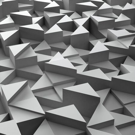 3d triangle: Abstract background of white 3d triangle blocks