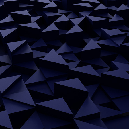 3d triangle: Abstract background of blue 3d triangle blocks
