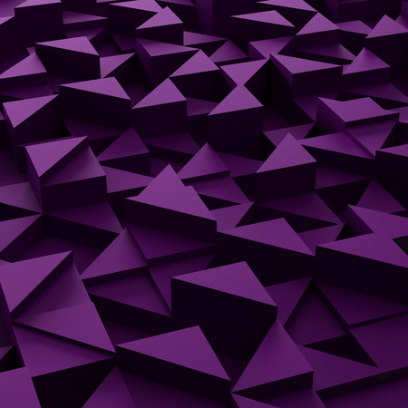 3d triangle: Abstract background of violet 3d triangle blocks Stock Photo