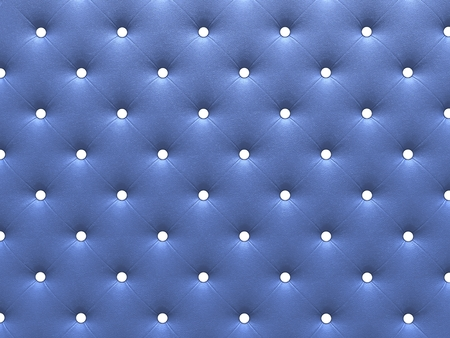 buttoned: Buttoned on the blue Texture. Repeat pattern. render 3D Stock Photo