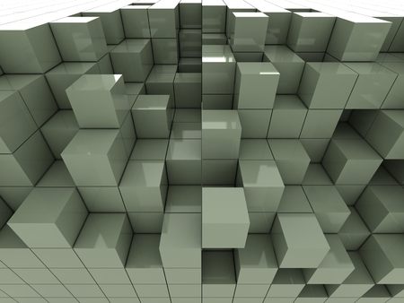 gray: abstract of 3d gray cubes, blocks background Stock Photo