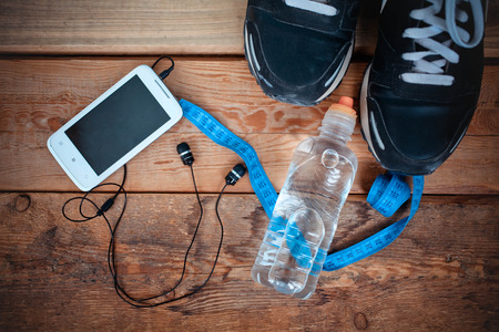 set for sports activities Stock Photo