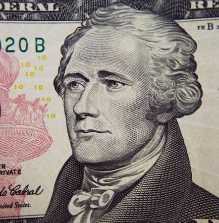 alexander hamilton: Alexander Hamilton ritratto da biglietto da dieci dollari Archivio Fotografico