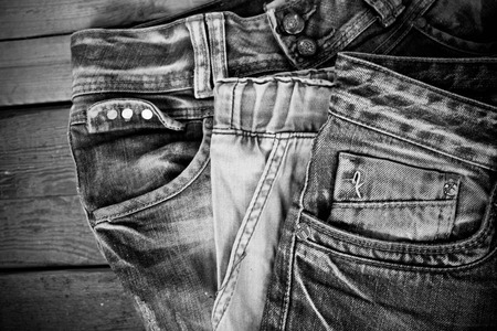 Monochrome jeans pocket photo