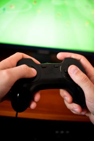 Man spelen van een computer games