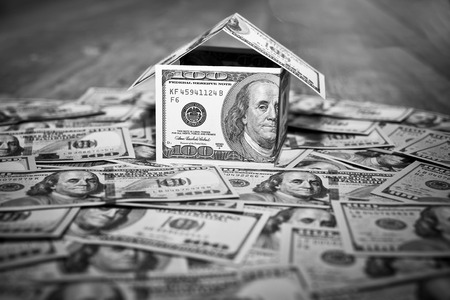 Huis gemaakt van Cash Money