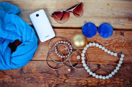 vrouwelijke accessoires Stockfoto