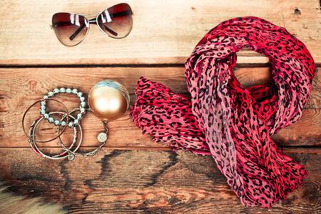 scarf: female accessories Stock Photo