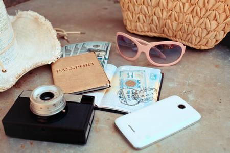 accessoires op de reis Stockfoto