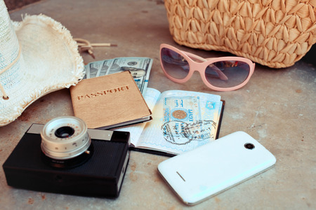 accessories on the travel