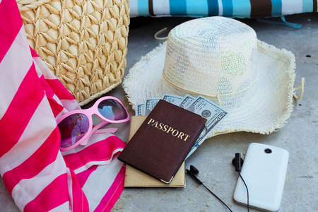 Fashionable women accessories for travel