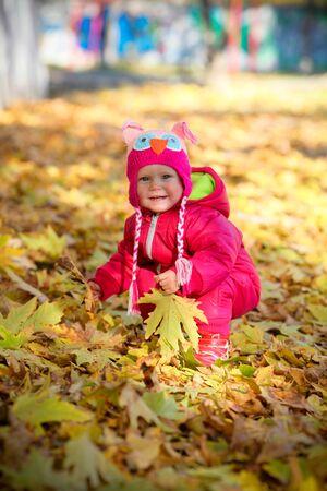 warmer: playing little cute toddler enjoying warmer sunny day