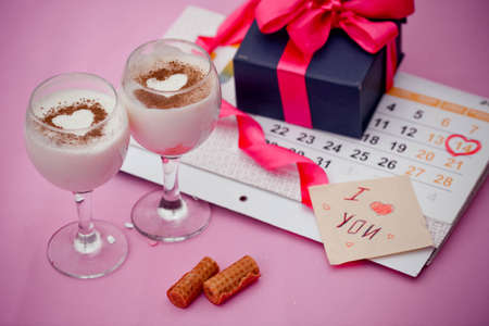 valentina: Festive breakfast and gift in Day of Sacred Valentia Stock Photo