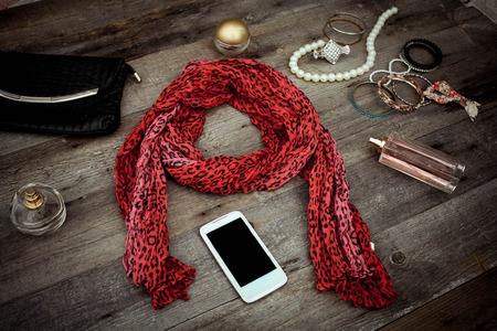 vanity bag: women  accessories on wooden backgrounds