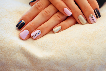 Natural Nails Gel Polish Nail Art Design For The Fashion Style