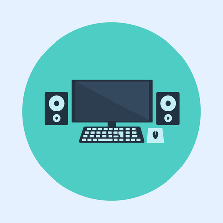 pc: Business PC Flat Icon