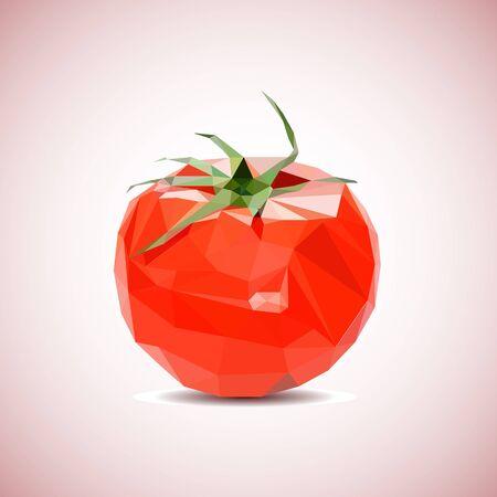Vector tomato background. Low-poly triangular style illustration 矢量图像