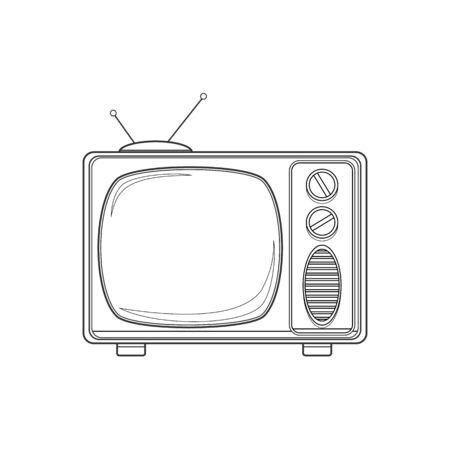 tv set: Vintage TV set isolated.
