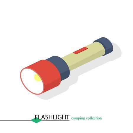 illuminate: A flashlight to illuminate the camp in the dark Illustration