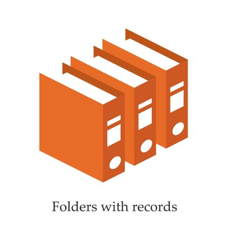 keeping: Folders with records for doctors. Isometric illustration Illustration