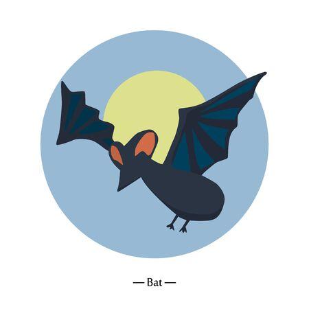 Symbol of the bat. flat vector illustration 矢量图像
