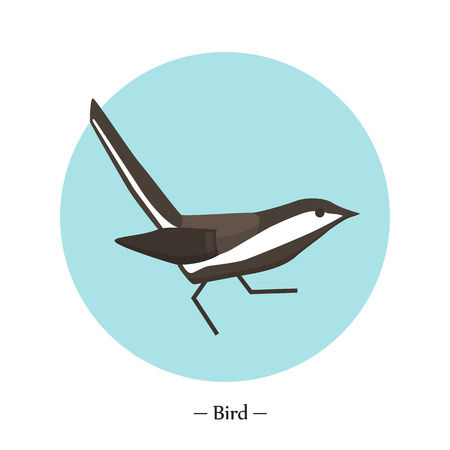The symbol of the bird in style flat. illustration
